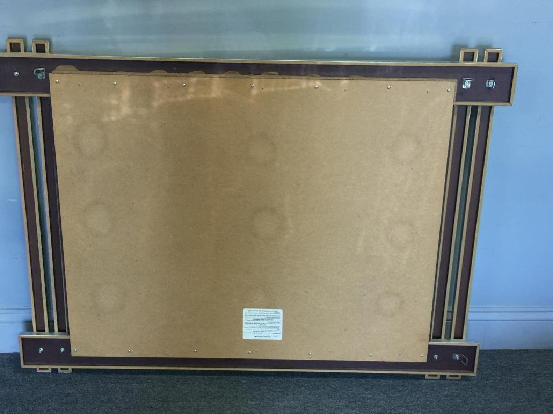 Paul Evans Style Brass and Chrome Frame Mirror. - 3