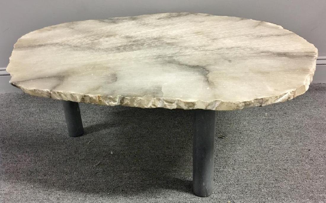 Modernist Stone Slab Top Coffee Table. - 3