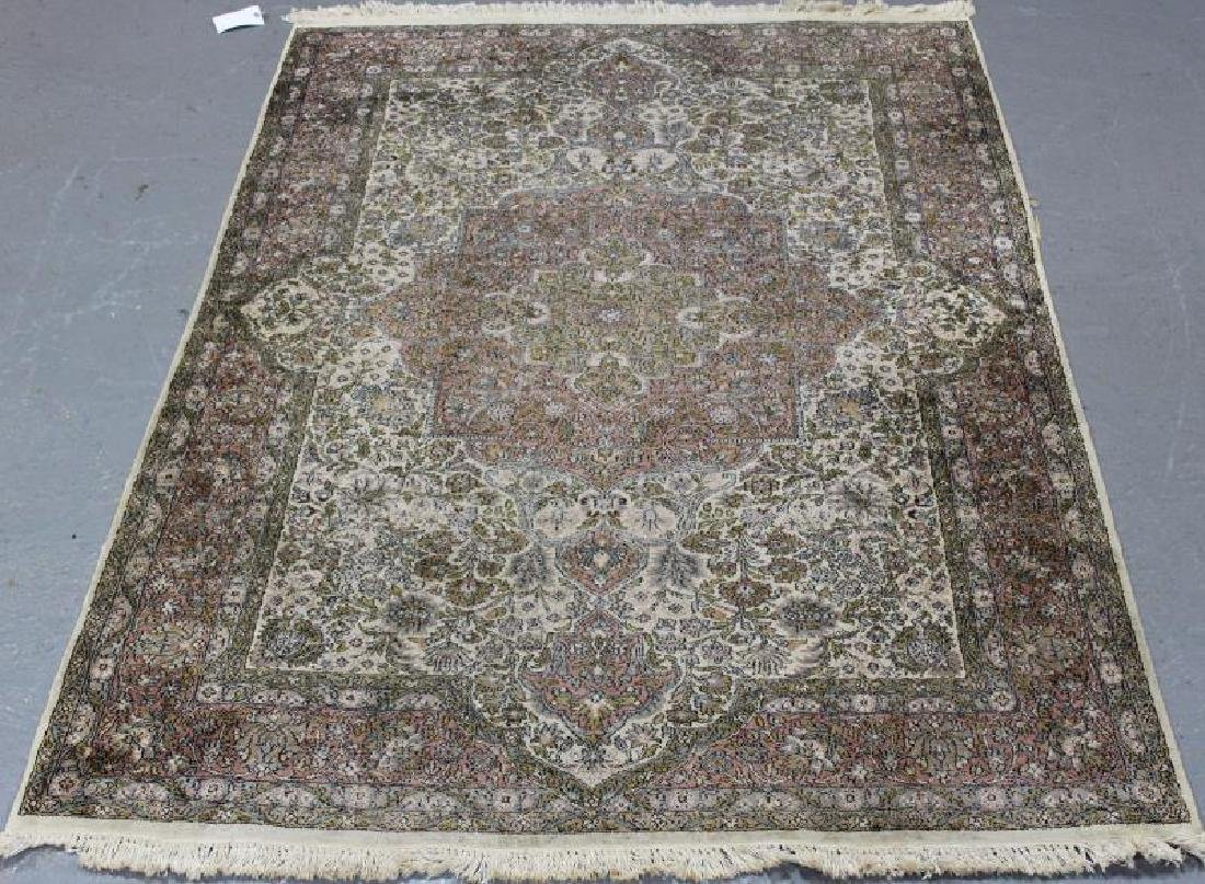 Vintage Finely Woven Handmade Carpet.