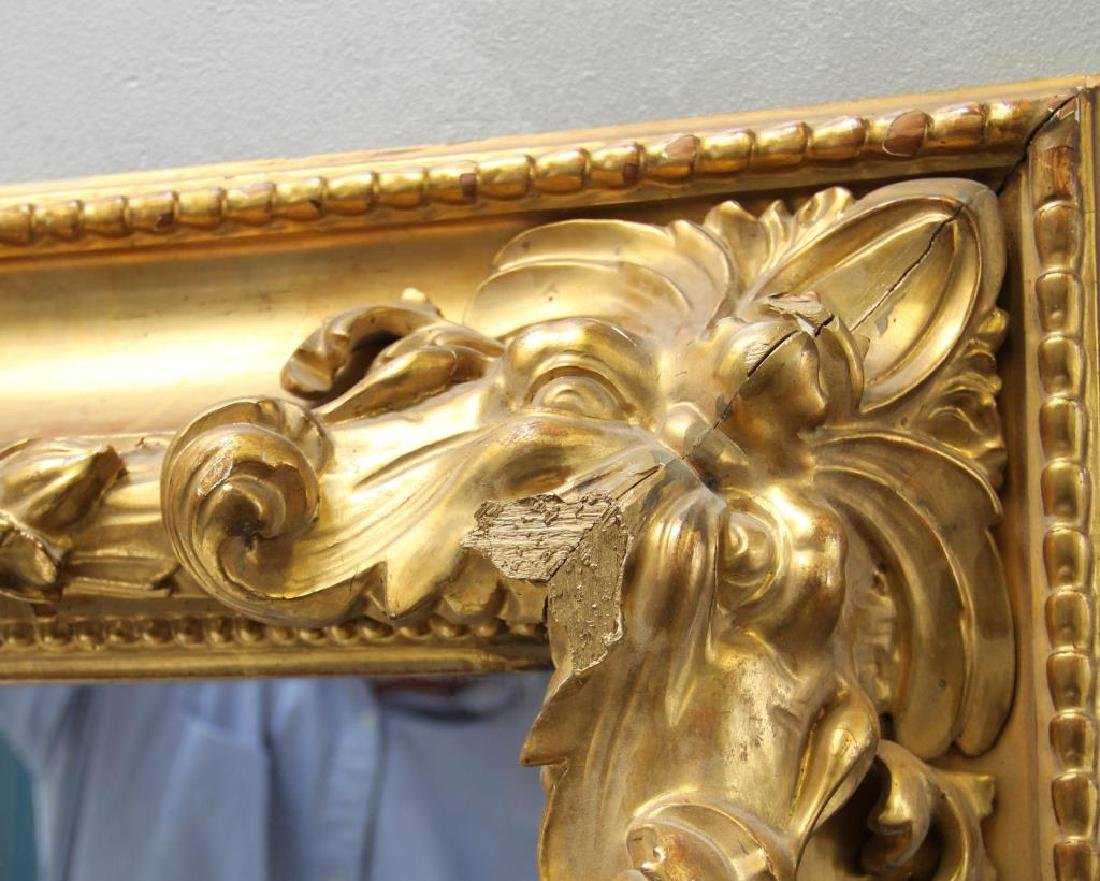 Beautiful Carved and Giltwood 19 Century Mirror. - 6