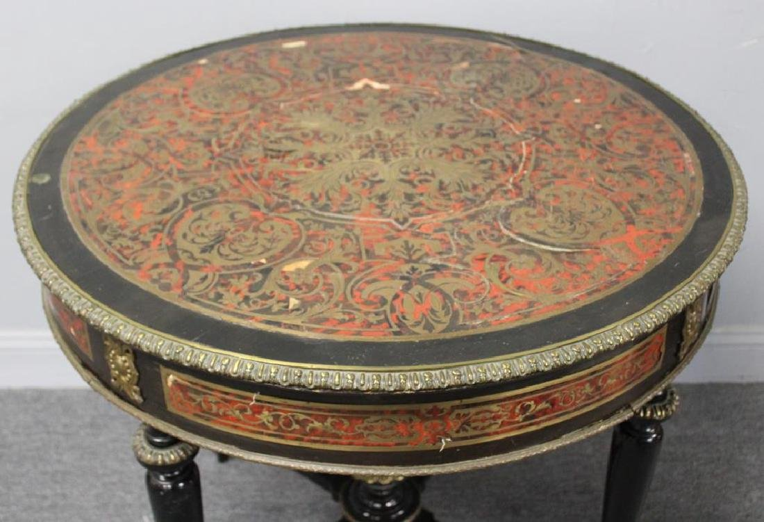 19 Century Ebonised Boulle Center Table. - 3