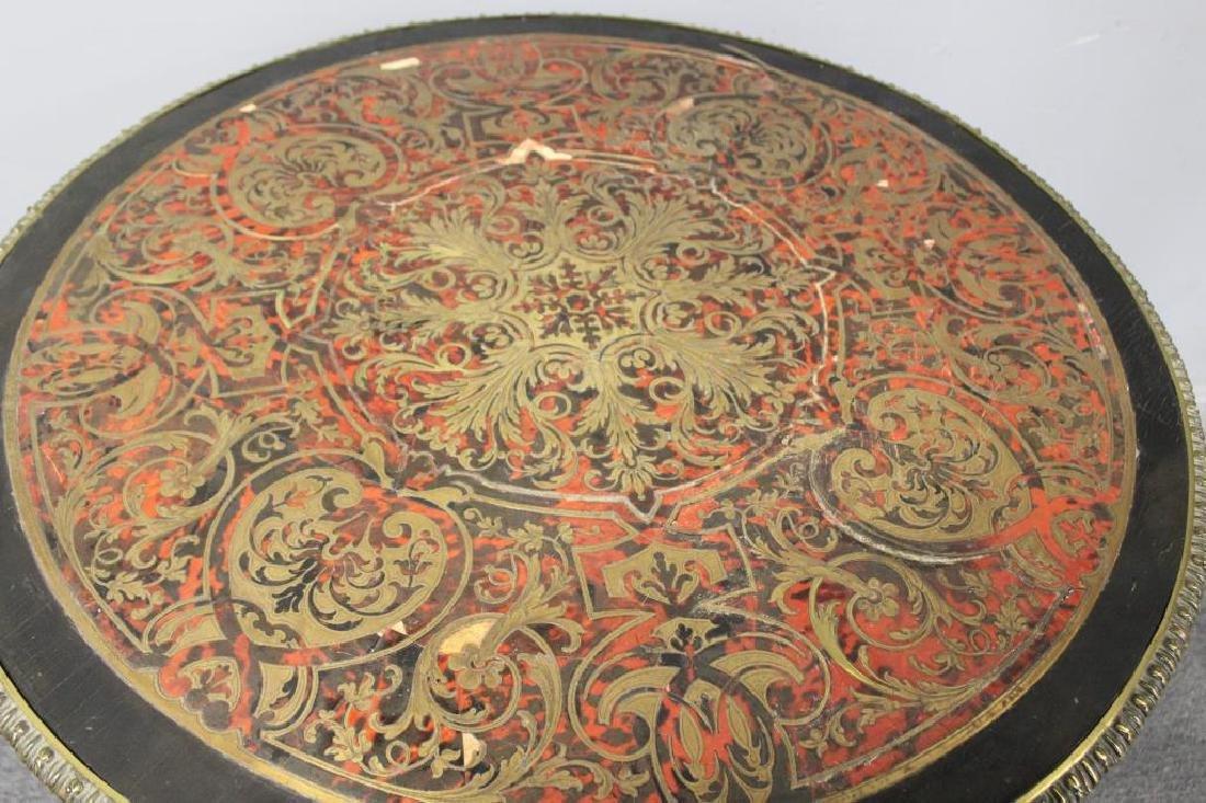 19 Century Ebonised Boulle Center Table. - 4