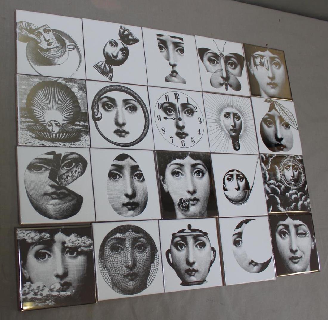 Lot of Pierro Fornasetti Decorative Tiles. - 2