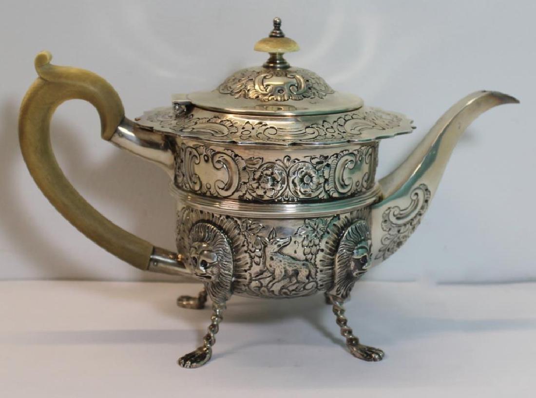 STERLING. Antique English 6 Piece Tea Service. - 3