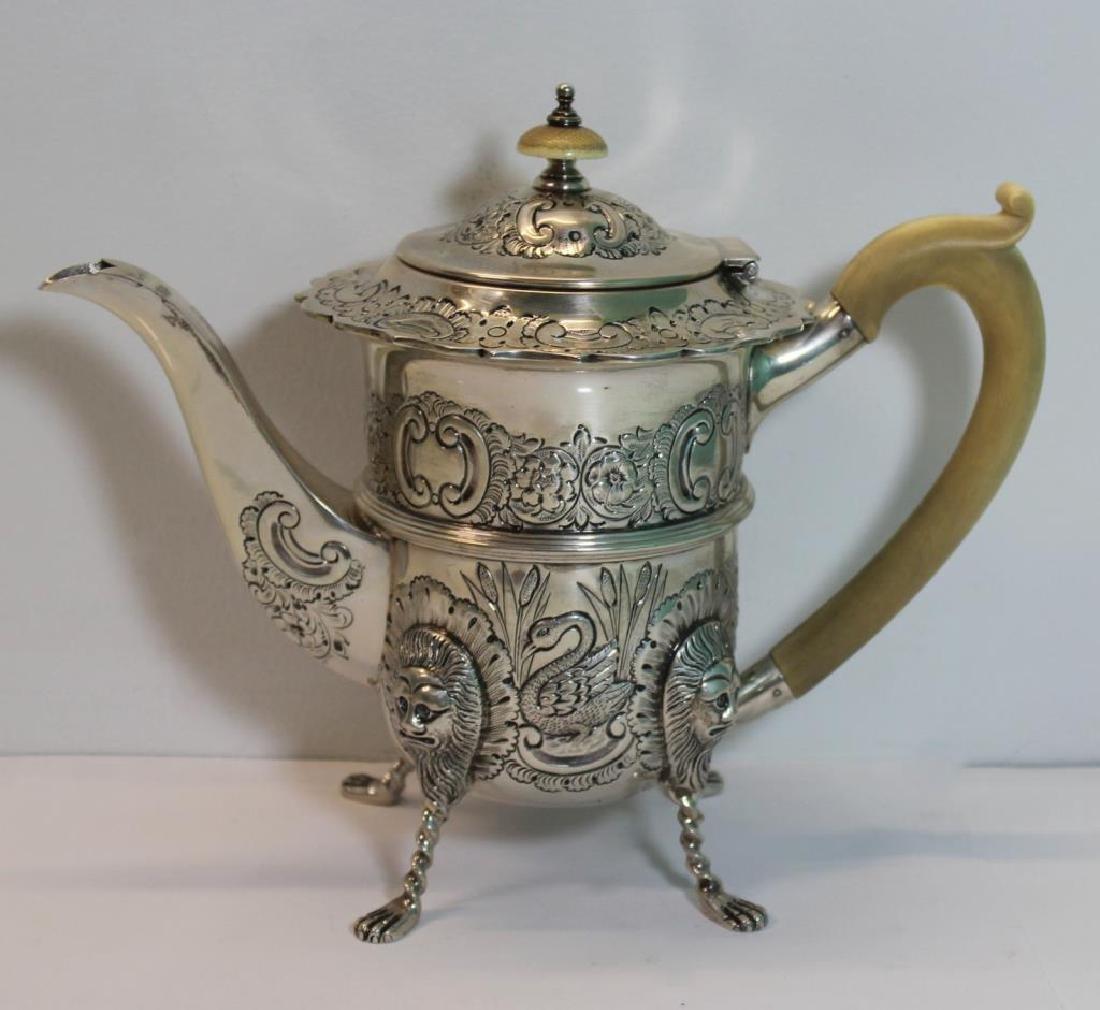 STERLING. Antique English 6 Piece Tea Service. - 4
