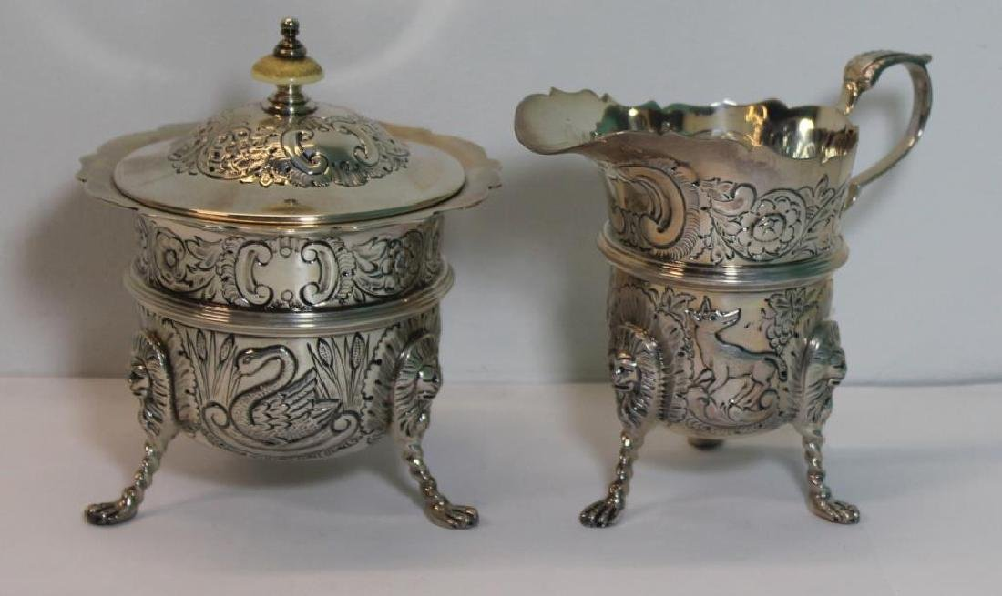 STERLING. Antique English 6 Piece Tea Service. - 5