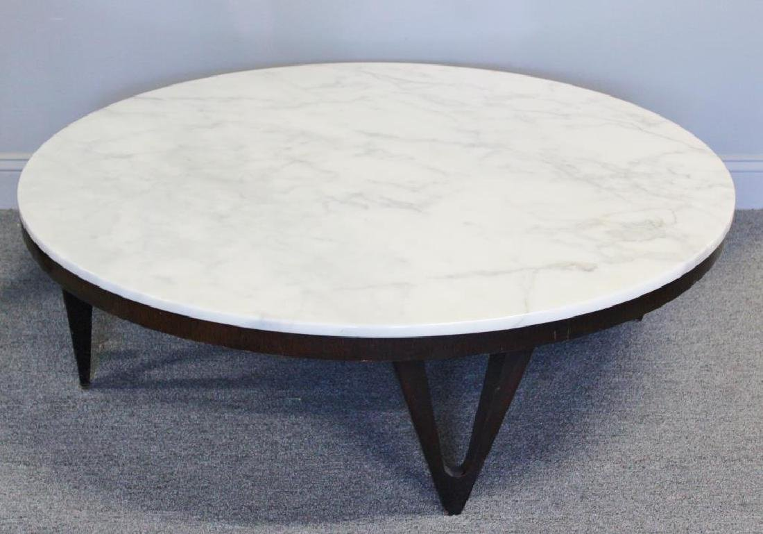 Midcentury Marble Top Coffee Table. - 2