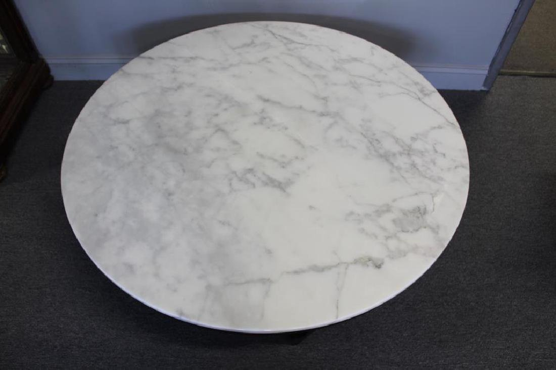 Midcentury Marble Top Coffee Table. - 3