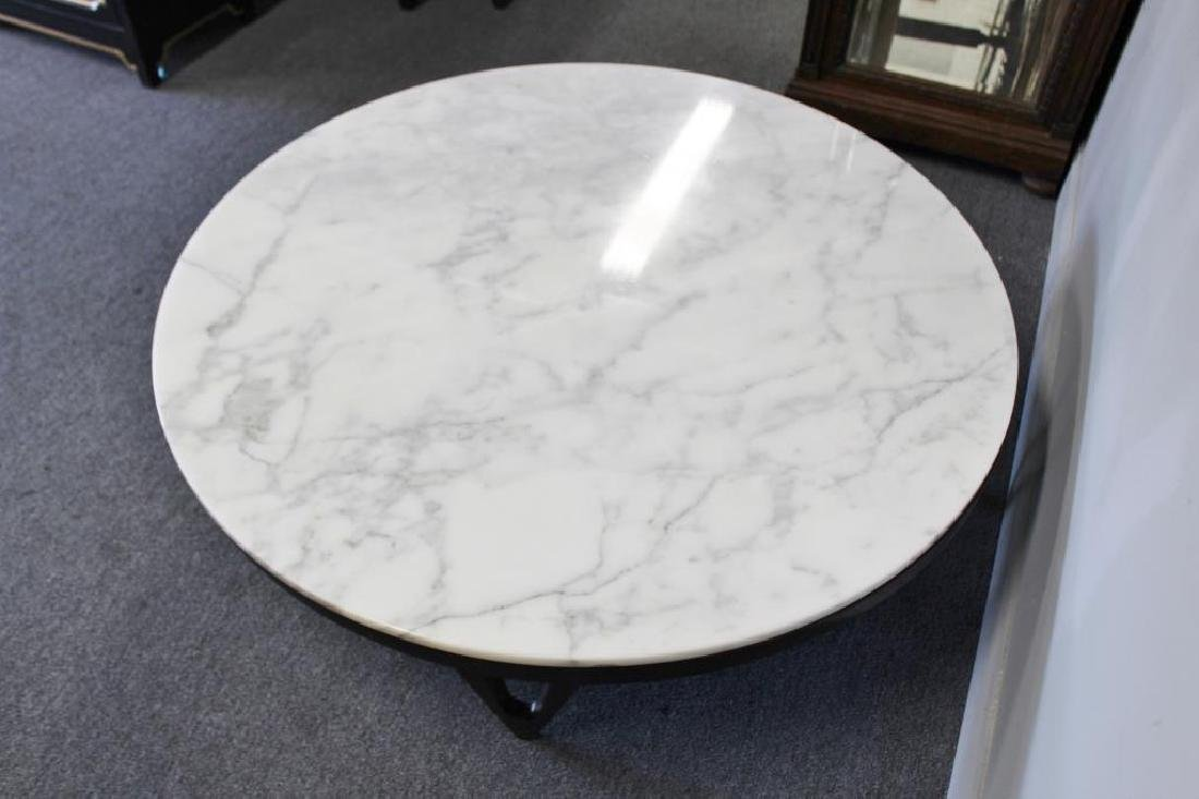 Midcentury Marble Top Coffee Table. - 4