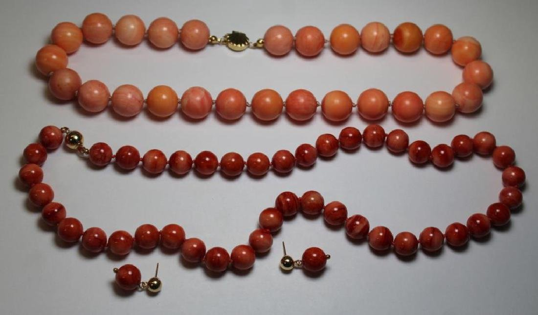 JEWELRY. Assorted Coral Jewelry Grouping.