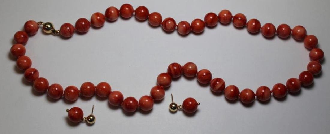 JEWELRY. Assorted Coral Jewelry Grouping. - 2