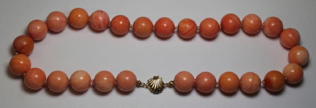 JEWELRY. Assorted Coral Jewelry Grouping. - 4