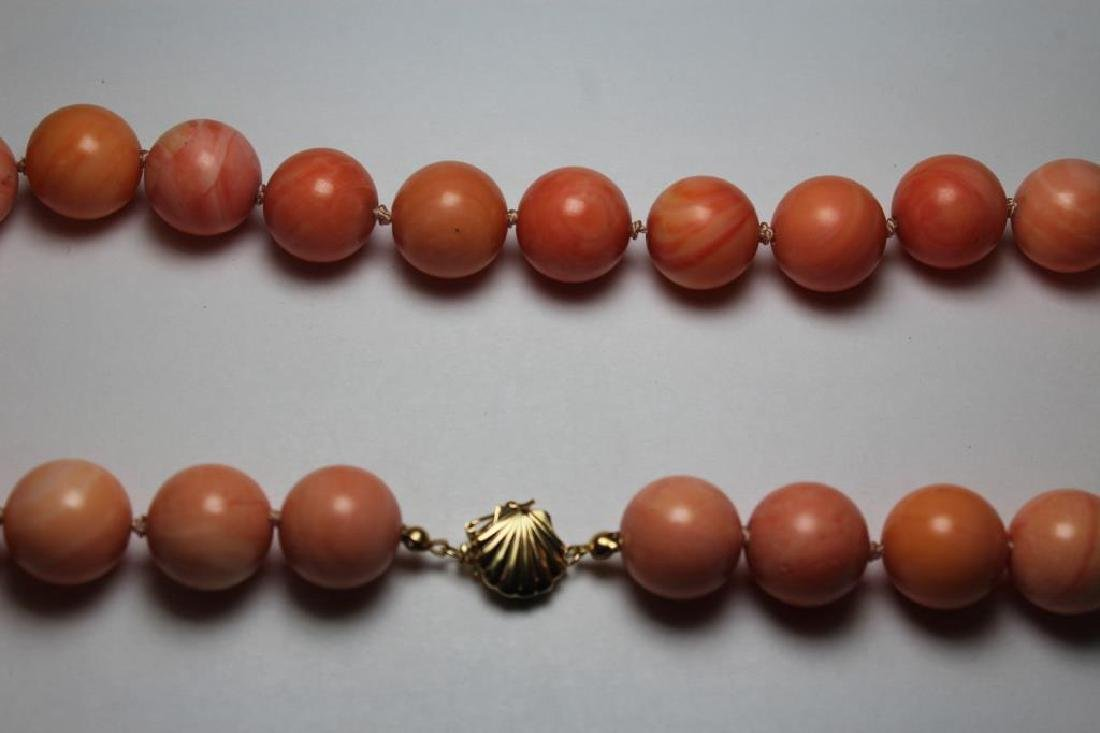 JEWELRY. Assorted Coral Jewelry Grouping. - 6