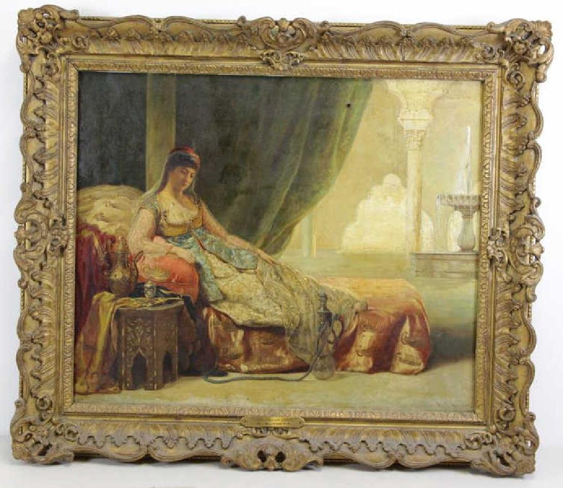 "19th Century. Orientalist Oil on Canvas ""The Harem - 2"