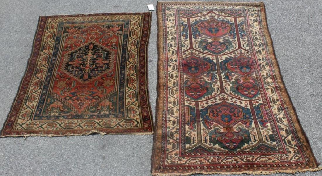 2 Antique and Finely Woven Area Rugs.