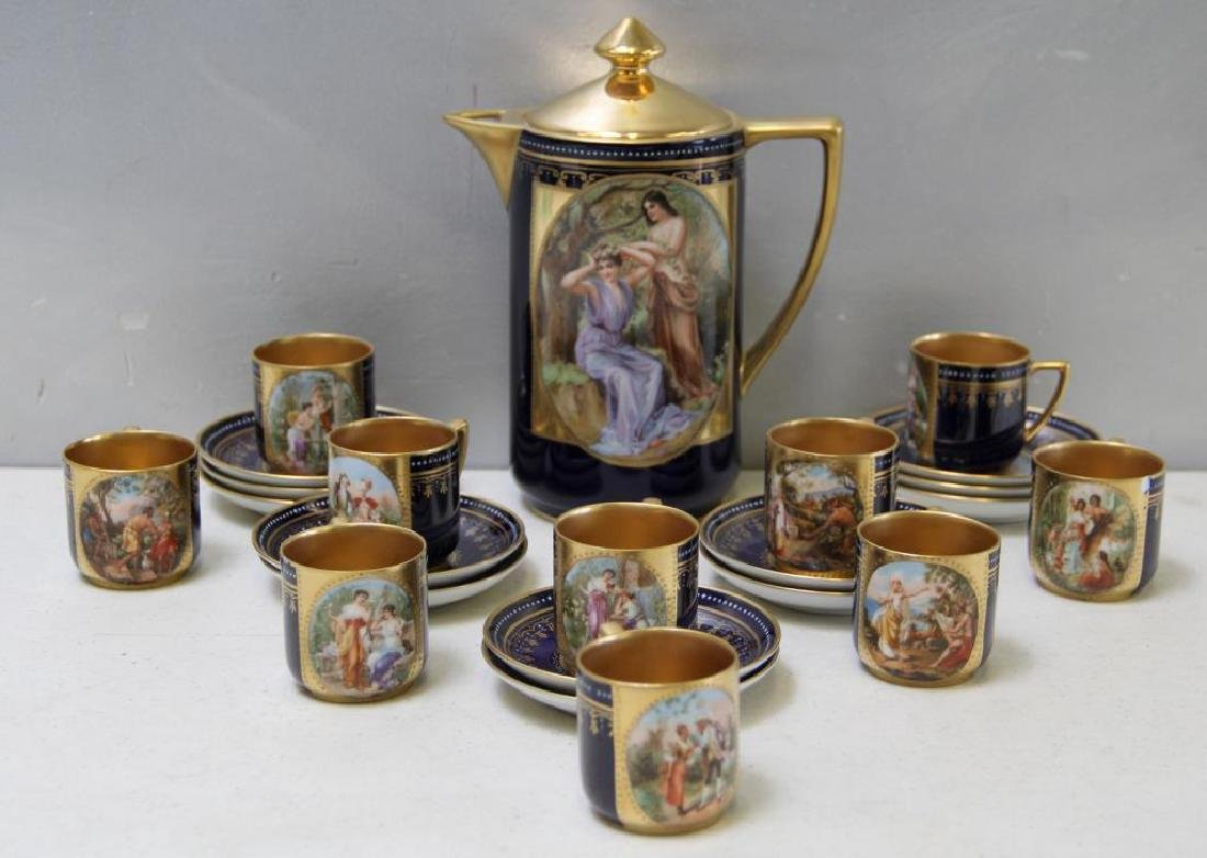 Royal Vienna Style Coffee Pot and 10 Cups and