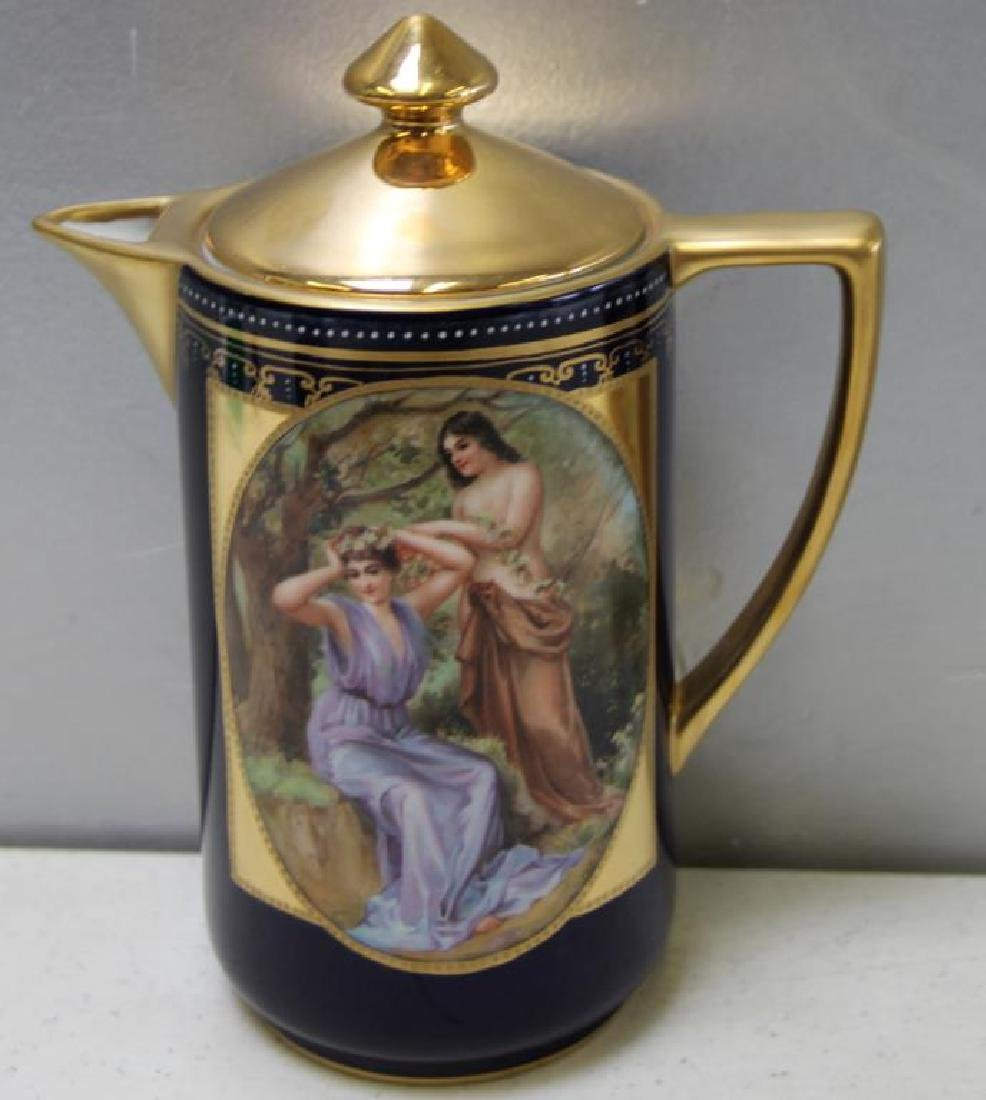 Royal Vienna Style Coffee Pot and 10 Cups and - 5