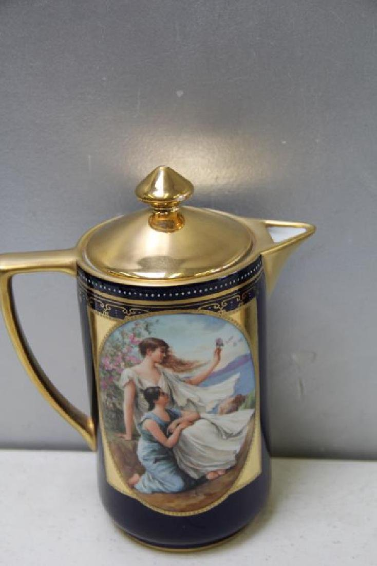 Royal Vienna Style Coffee Pot and 10 Cups and - 6