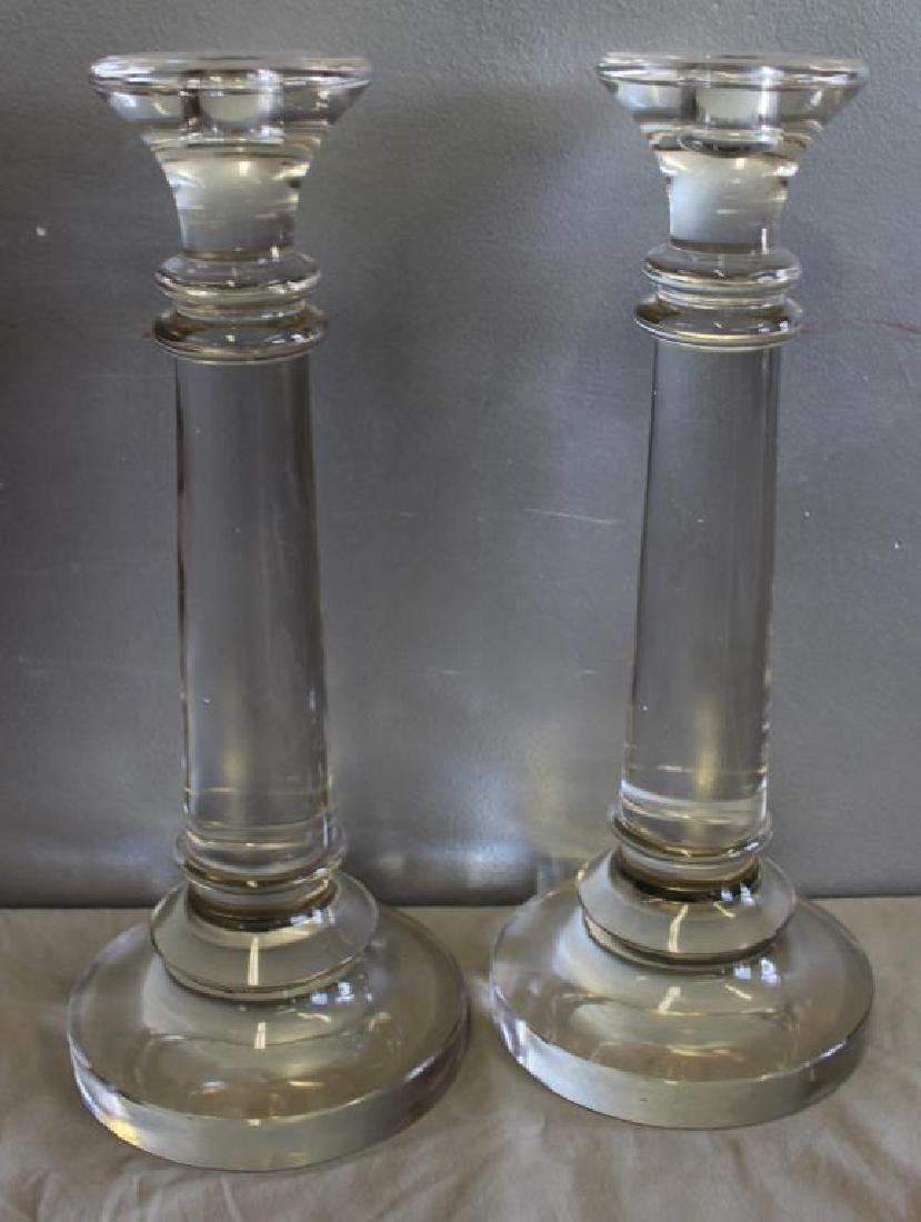 2 Pairs of Glass Candlesticks. - 2