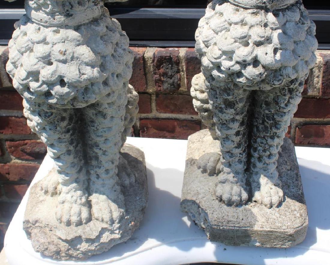 Pair of Decorative Cast Cement Poodle Statues. - 5