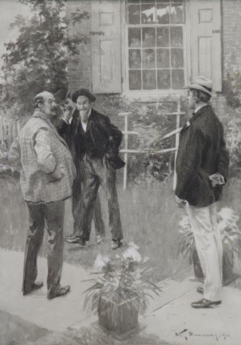 """SMEDLEY, William T. Ink on Paper Illustration """"I'm"""