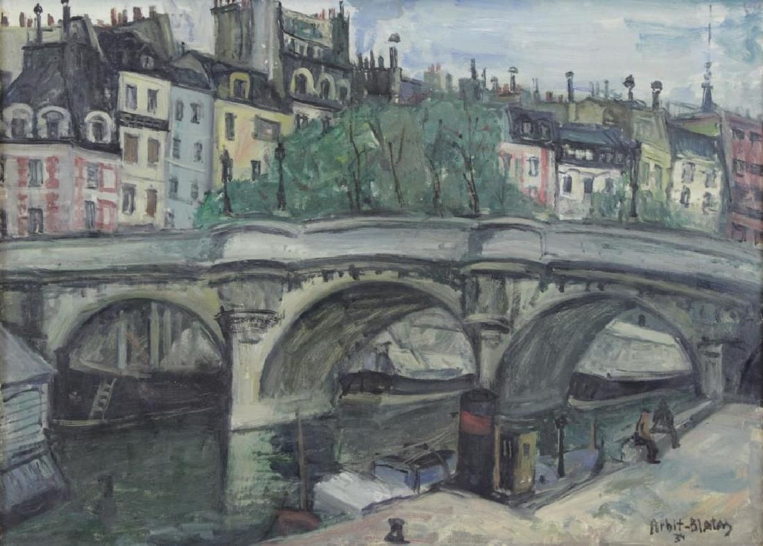 BLATAS, Arbit. Oil on Canvas. Seine River, Paris.