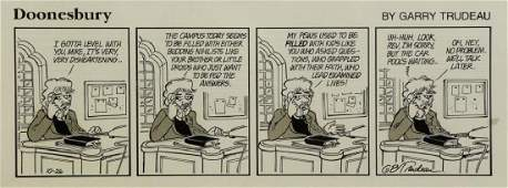 TRUDEAU, Garry. Original Doonesbury Illustration.
