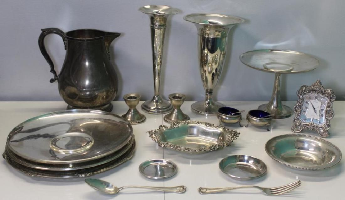 STERLING. Grouping of Assorted Silver Hollow Ware