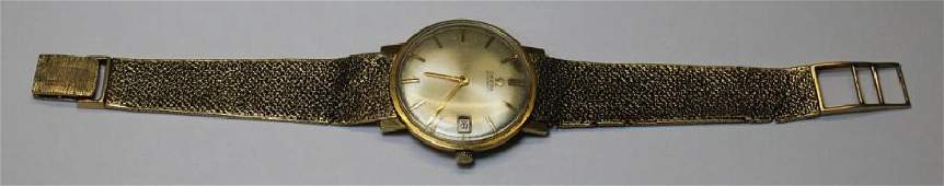 JEWELRY Mens 14kt Gold Omega Wrist Watch