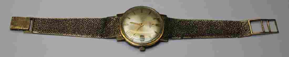 JEWELRY. Men's 14kt Gold Omega Wrist Watch.