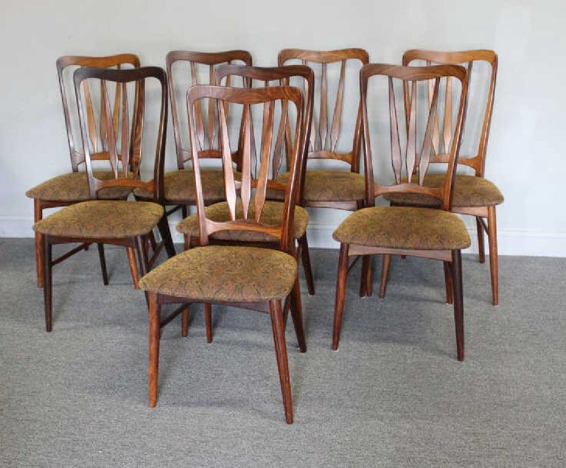 Set of 8 Koefoeds Hornslet Rosewood Dining Chairs.
