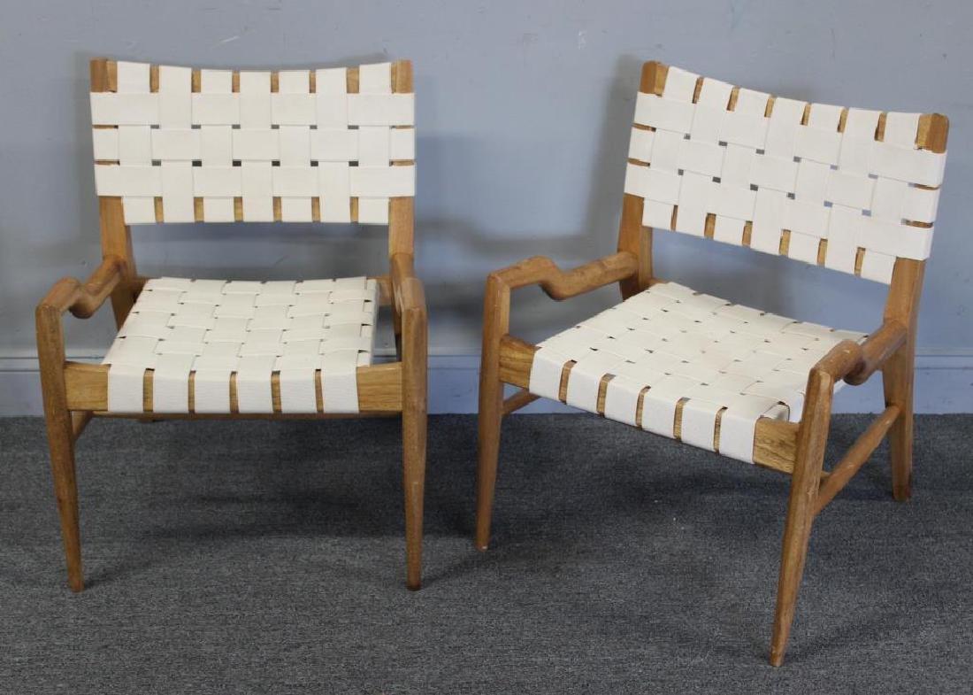 Pair of John Keal; Brown Saltman Lounge Chairs.