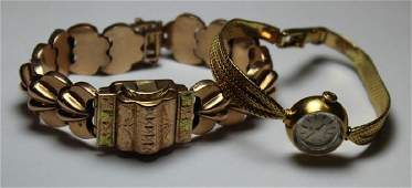 JEWELRY. Ladies Gold Watch Grouping.