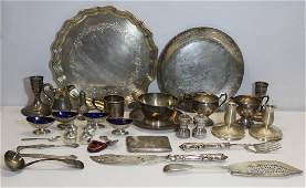 STERLING. Large Grouping of Assorted Silver Hollow