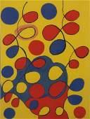 "CALDER, Alexander. Color Lithograph ""Tapestry""."