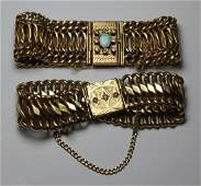 JEWELRY. 14kt Gold Bracelet Grouping.