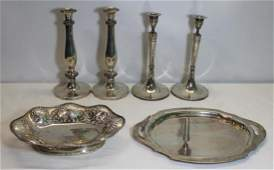 SILVER Continental Silver Hollow Ware Grouping