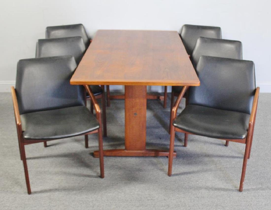 Midcentury Kai Kristiansen Dining Chairs and Table