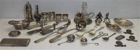 SILVER. Assorted Grouping of Silver Hollow Ware