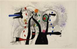 """MIRO, Joan. """"Joueur de Bugle aux Oiseaux"""" 1973."""