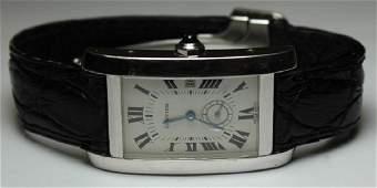 JEWELRY Mens Cartier 18kt Gold Tank Watch