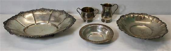 SILVER Assorted American and Italian Hollow Ware