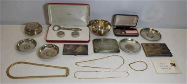 GOLD & SILVER. Grouping of Assorted Jewelry and