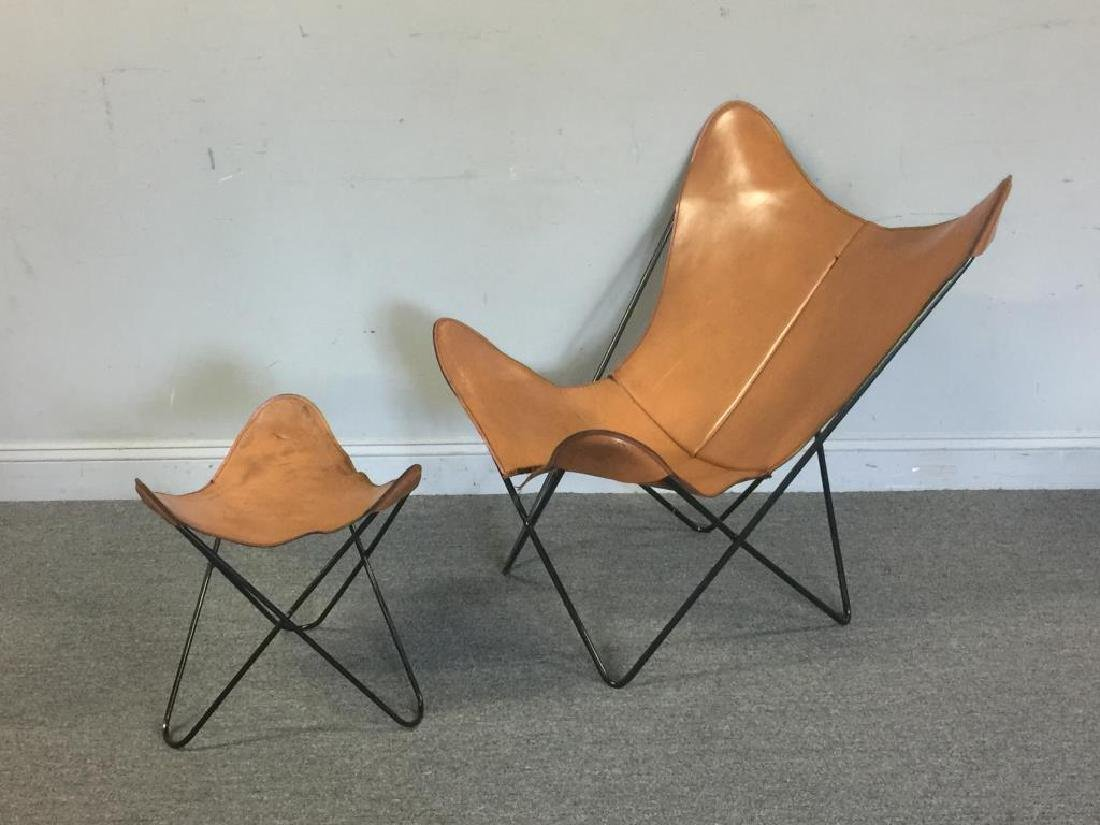 Midcentury Knoll Hardoy Butterfly Chair U0026 Ottoman.