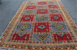 Large Vintage Handmade Moroccan Carpet