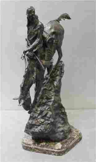 After Frederic Remington Mountain Man Bronze
