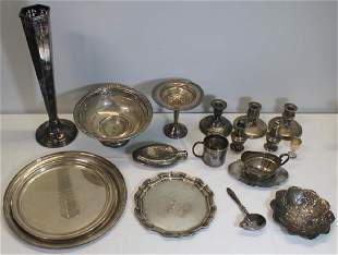 STERLING Grouping of Assorted Silver and Plated