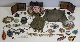 SILVER & JEWELRY. Assorted Decorative Objects.