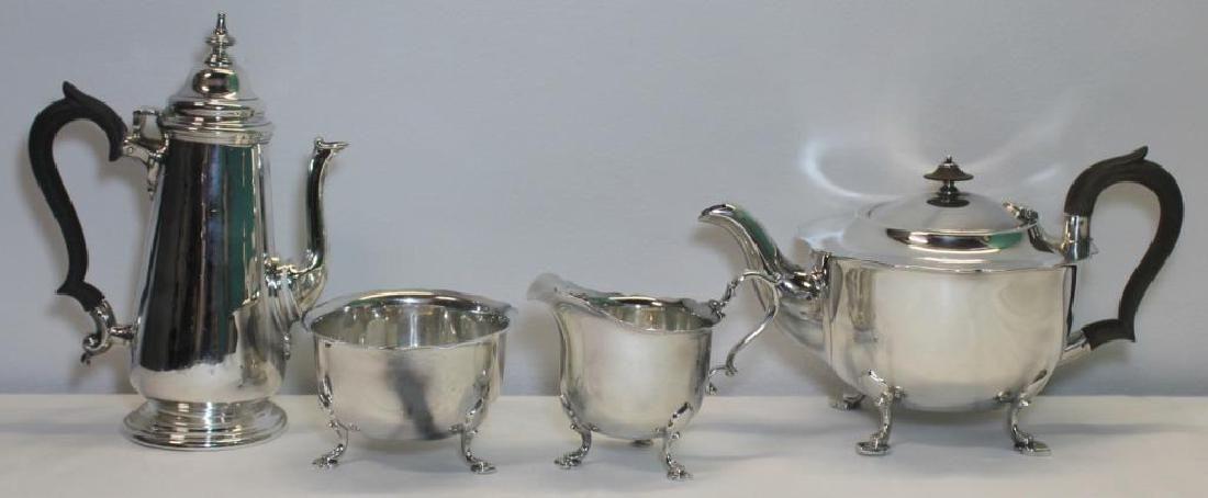SILVER 4 Pc English Silver Tea Service