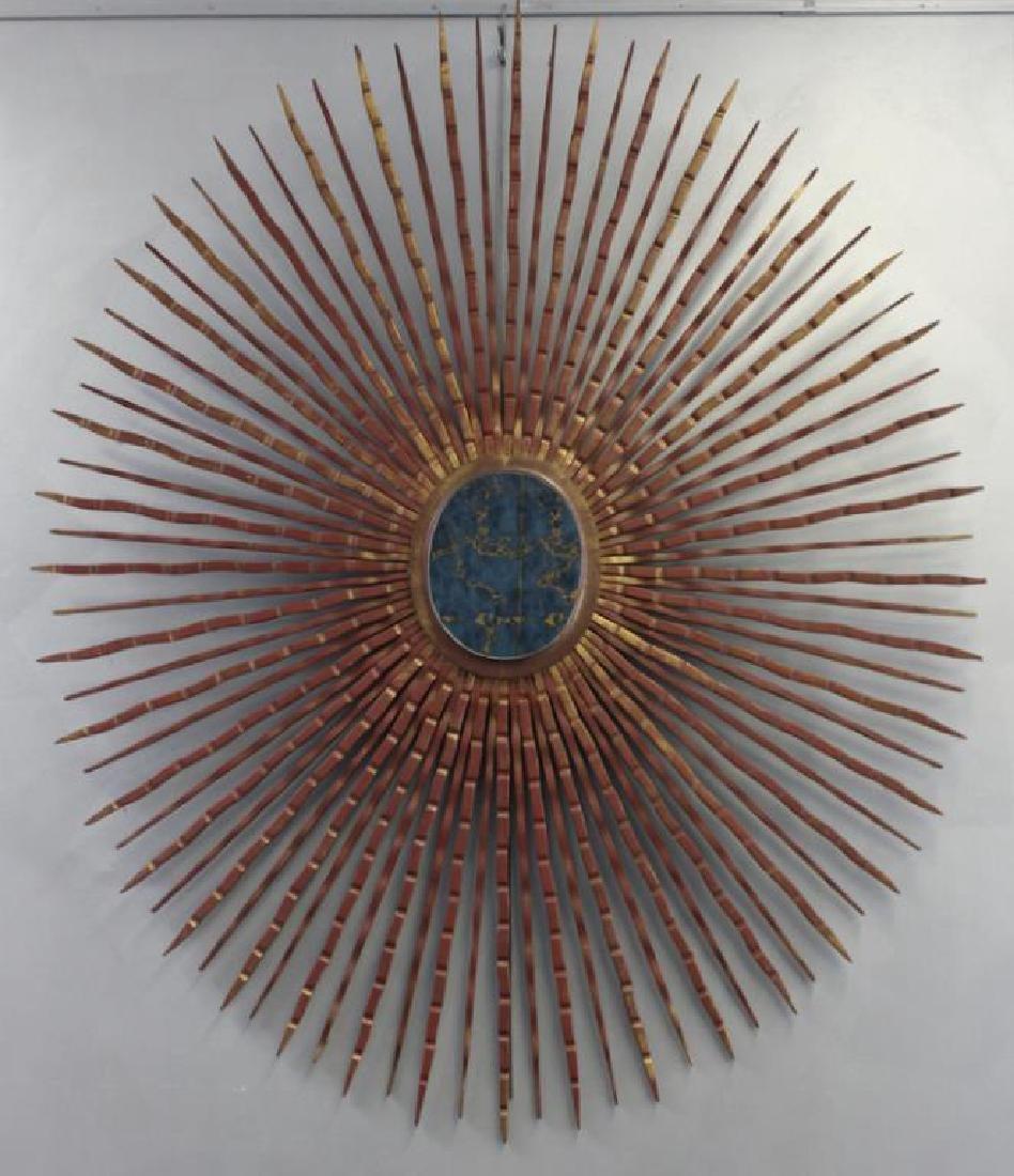 MIDCENTURY .Very Large Sunburst Mirror.